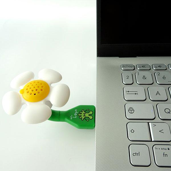 Aroma flower blanc sur portable