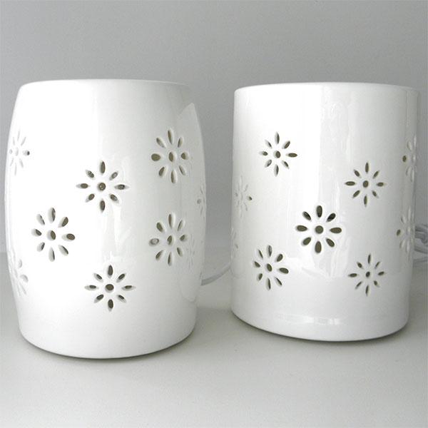 Chaleur douce blanc duo fleurs