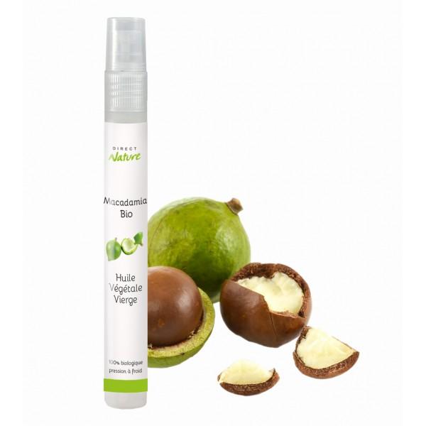 Huile végétale vierge macadamia bio