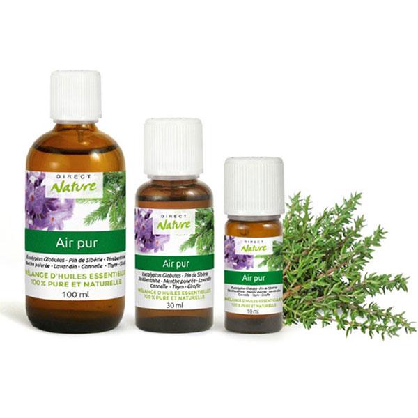 Mélange synergie huiles essentielles air pur
