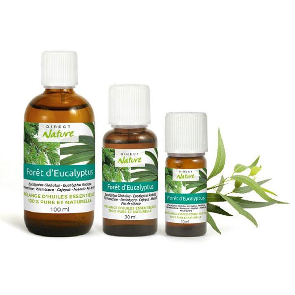 Mélange synergie huiles essentielles foret eucalyptus
