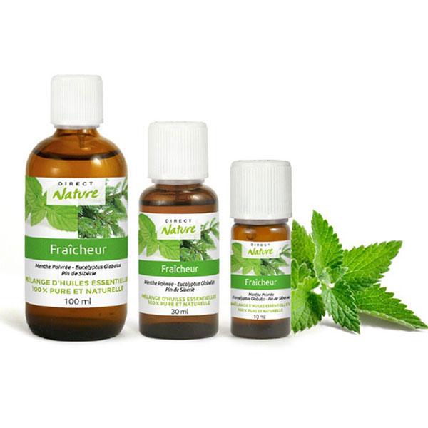 Mélange synergie huiles essentielles fraîcheur